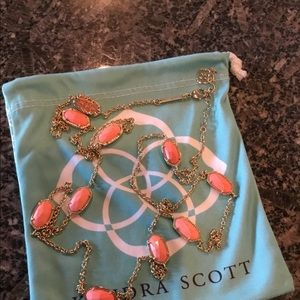 Kendra Scott Coral Kelsie Necklace